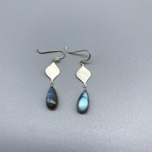 lab drop earrings